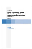 Energy Consumption and the Effects of Energy Efficiency Measures Based on Analysis of NEED Data