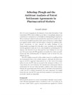 Schering-Plough and the Antitrust Analysis of Patent Settlement Agreements in Pharmaceutical Markets
