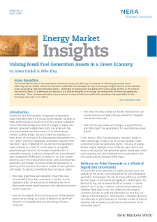 Valuing Fossil Fuel Generation Assets in a Green Economy