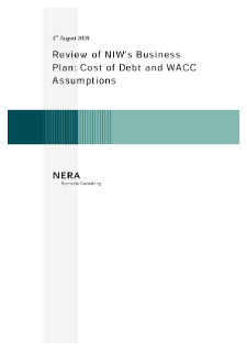 Review of NIW's Business Plan: Cost of Debt and WACC Assumptions