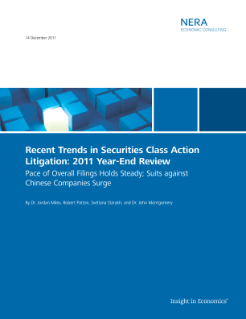 Recent Trends in Securities Class Action Litigation: 2011 Year-End Review
