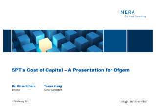 SPT's Cost of Capital – A Presentation for Ofgem