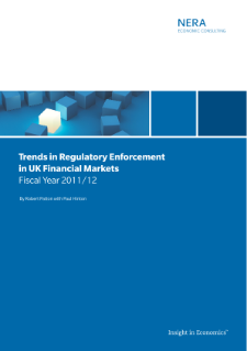 Trends in Regulatory Enforcement in UK Financial Markets: Fiscal Year 2011/12