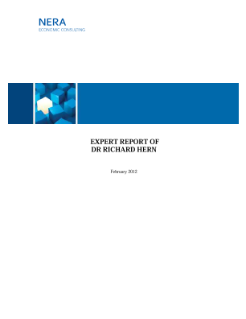 Expert Report Dr. Richard Hern