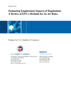 Estimating Employment Impacts of Regulations: A Review of EPA's Methods for Its Air Rules