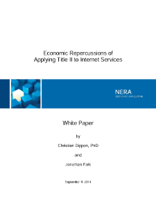 Economic Repercussions of Applying Title II to Internet Services