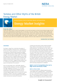 Tantalus and Other Myths of the British Energy Market