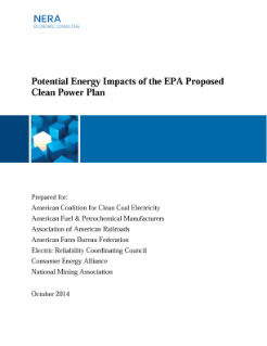 Potential Impacts of the EPA Clean Power Plan