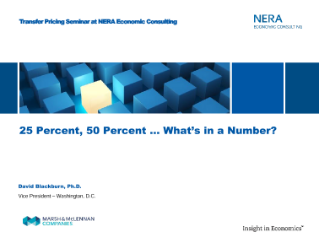 25 Percent, 50 Percent ... What is in a Number?