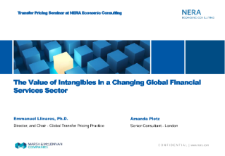 The Value of Intangibles in a Changing Global Financial Services Sector