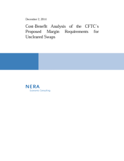 Cost-Benefit Analysis of the CFTC's Proposed Margin Requirements for Uncleared Swaps