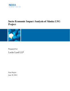 Socio-Economic Impact Analysis of Alaska LNG Project