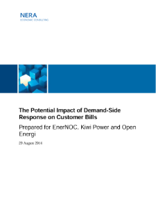 The Potential Impact of Demand-Side Response on Customer Bills