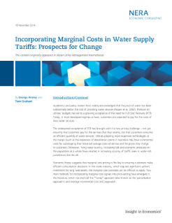 Incorporating Marginal Costs in Water Supply Tariffs: Prospects for Change