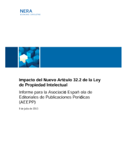 Impact of the New Article 32.2 of the Spanish Intellectual Property Act