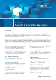 Airports and Aviation Experience At A Glance