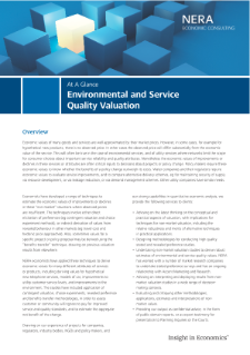 Environmental and Service Quality Valuation At A Glance