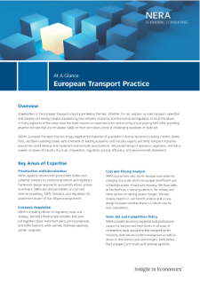 European Transport Practice At A Glance