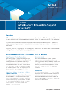 Infrastructure Transaction Support in Germany At A Glance