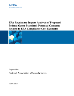 EPA Regulatory Impact Analysis of Proposed Federal Ozone Standard: Potential Concerns Related to EPA Compliance Cost Estimates