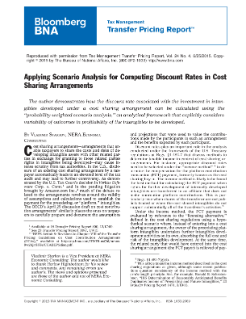 Applying Scenario Analysis for Computing Discount Rates in Cost Sharing Arrangements