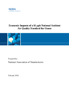 Economic Impacts of a 65 ppb National Ambient Air Quality Standard for Ozone