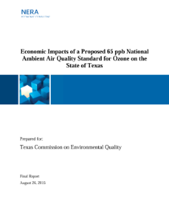 Economic Impacts of a Proposed 65 ppb National Ambient Air Quality Standard for Ozone on the State of Texas