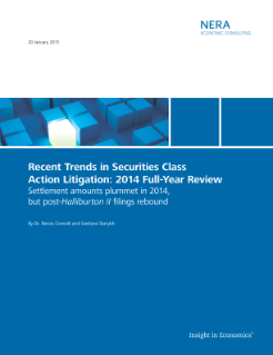 Recent Trends in Securities Class Action Litigation: 2014 Full-Year Review