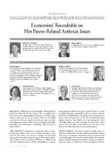 Economists' Roundtable on Hot Patent-Related Antitrust Issues