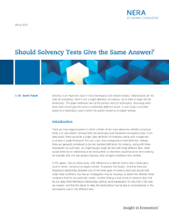 Should Solvency Tests Give the Same Answer?