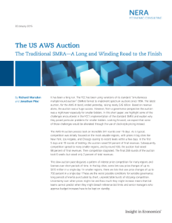 The US AWS Auction: The Traditional SMRA – A Long and Winding Road to the Finish