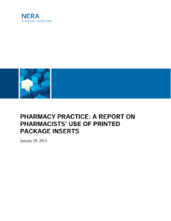 Pharmacy Practice: A Report on Pharmacists' Use of Printed Package Inserts