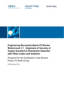 Engineering Recommendation P2 Review Workstream 2.7