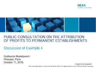OECD Public Consultation on Attribution of Profit to Permanent Establishments