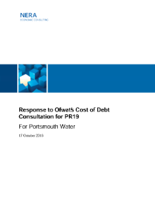 Response to Ofwat's Cost of Debt Consultation for PR19