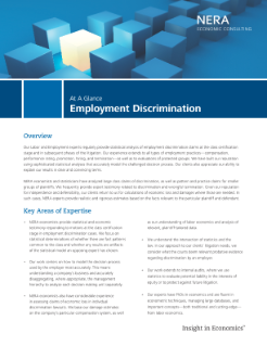 Labor and Employment Discrimination At A Glance