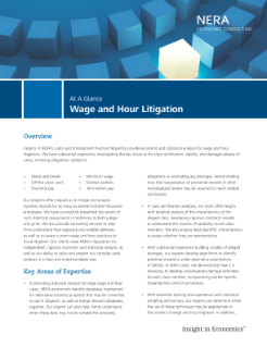 Wage and Hour Litigation At A Glance