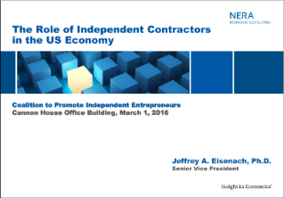 Briefing on Independent Work and the American Economy