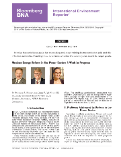 Mexican Energy Reform in the Power Sector: A Work in Progress