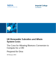 UK Renewable Subsidies and Whole System Costs