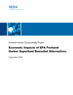 Economic Impact Analysis Report for the Sustainability Evaluation of EPA Portland Harbor Superfund Site Remedial Alternatives