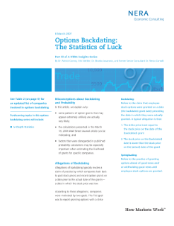 Options Backdating: The Statistics of Luck