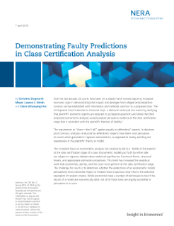 Demonstrating Faulty Predictions in Class Certification Analysis