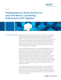 Developments in Bank Secrecy Act and Anti-Money Laundering Enforcement and Litigation