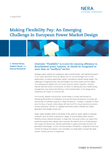 Making Flexibility Pay: An Emerging Challenge in European Power Market Design
