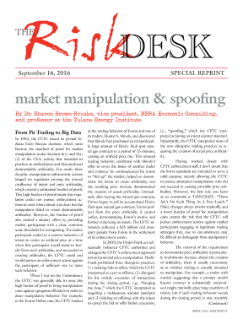 Market Manipulation & Spoofing (From Pit Trading to Big Data)