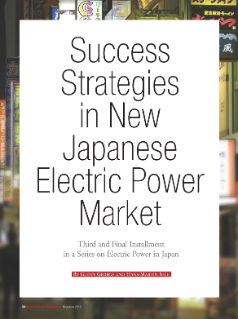 Success Strategies in New Japanese Electric Power Market