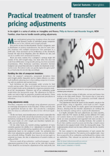 Practical treatment of transfer pricing adjustments