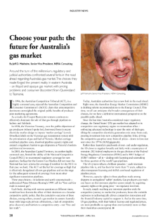 Choose your path: the future for Australia's gas market