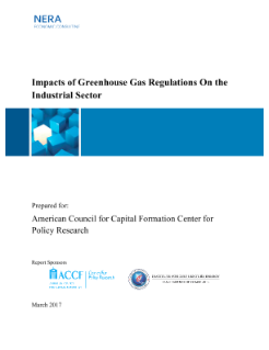 Impacts of Greenhouse Gas Regulations on the Industrial Sector